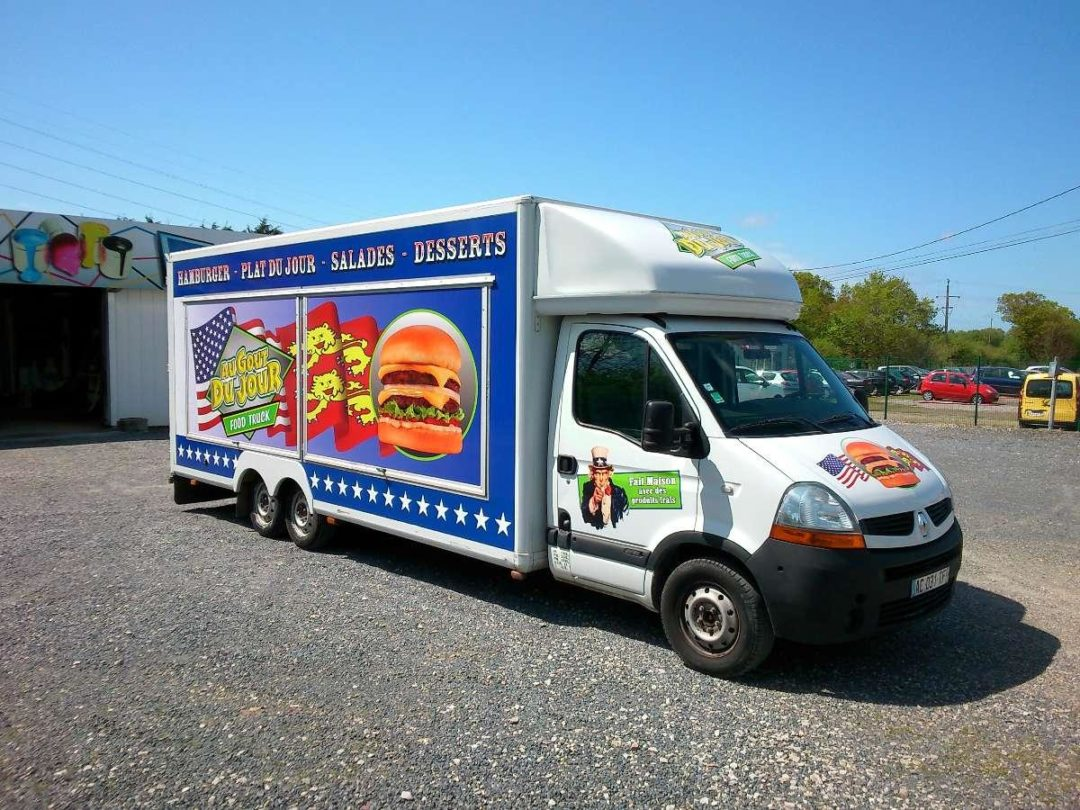 Marquage véhicule food truck
